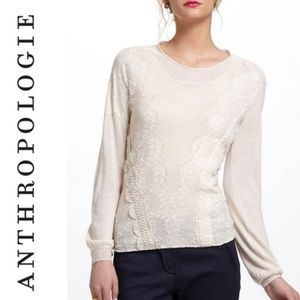 Anthropologie Angel Of The North Eyelash Pullover